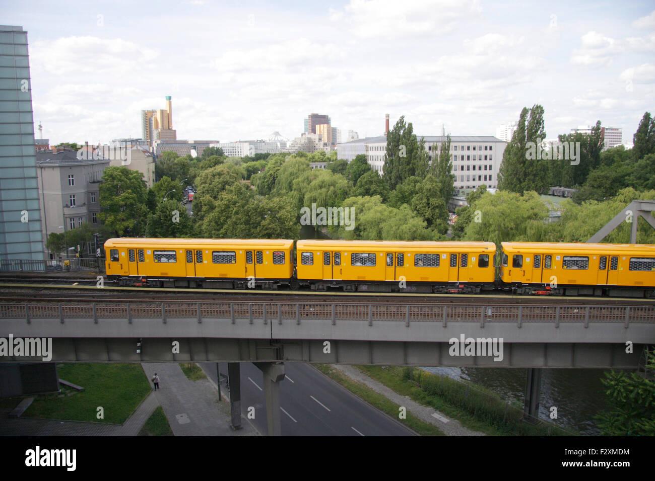 U-Bahn - Deutsches Technikmuseum, Berlin-Kreuzberg. - Stock Image