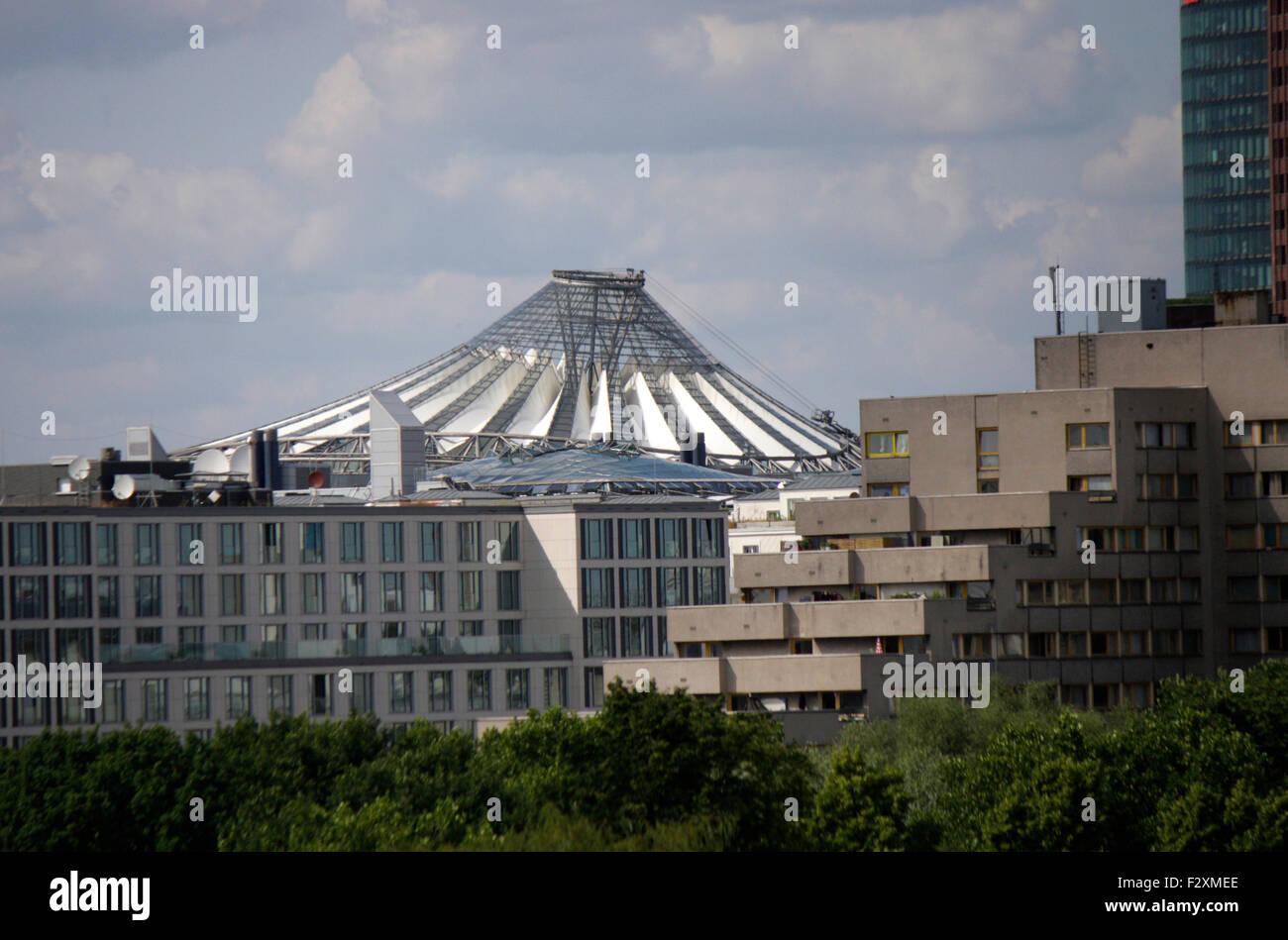 Sony Center am Potsdamer Platz - Skyline, Berlin-Kreuzberg. - Stock Image