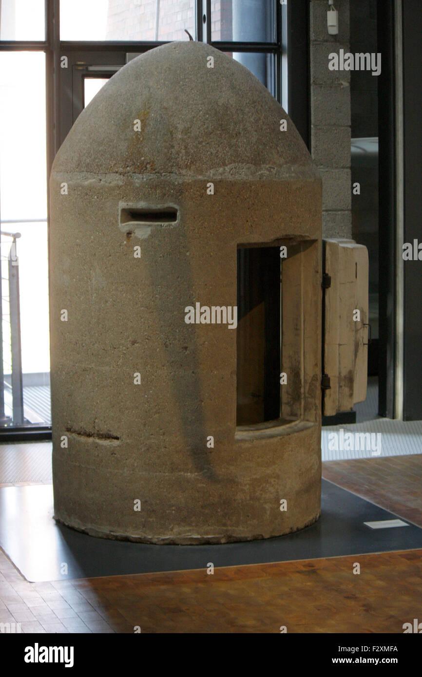 historischer 'Ein Mann Bunker' - Deutsches Technikmuseum, Berlin-Kreuzberg. - Stock Image