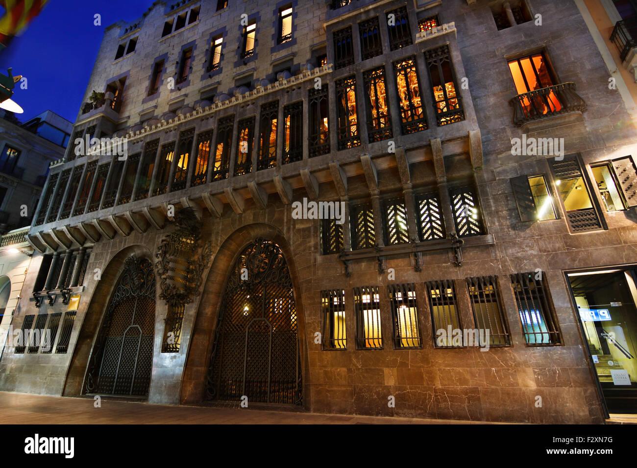 Palau Güell, by Antoni Gaudí. 1910. Barcelona. - Stock Image