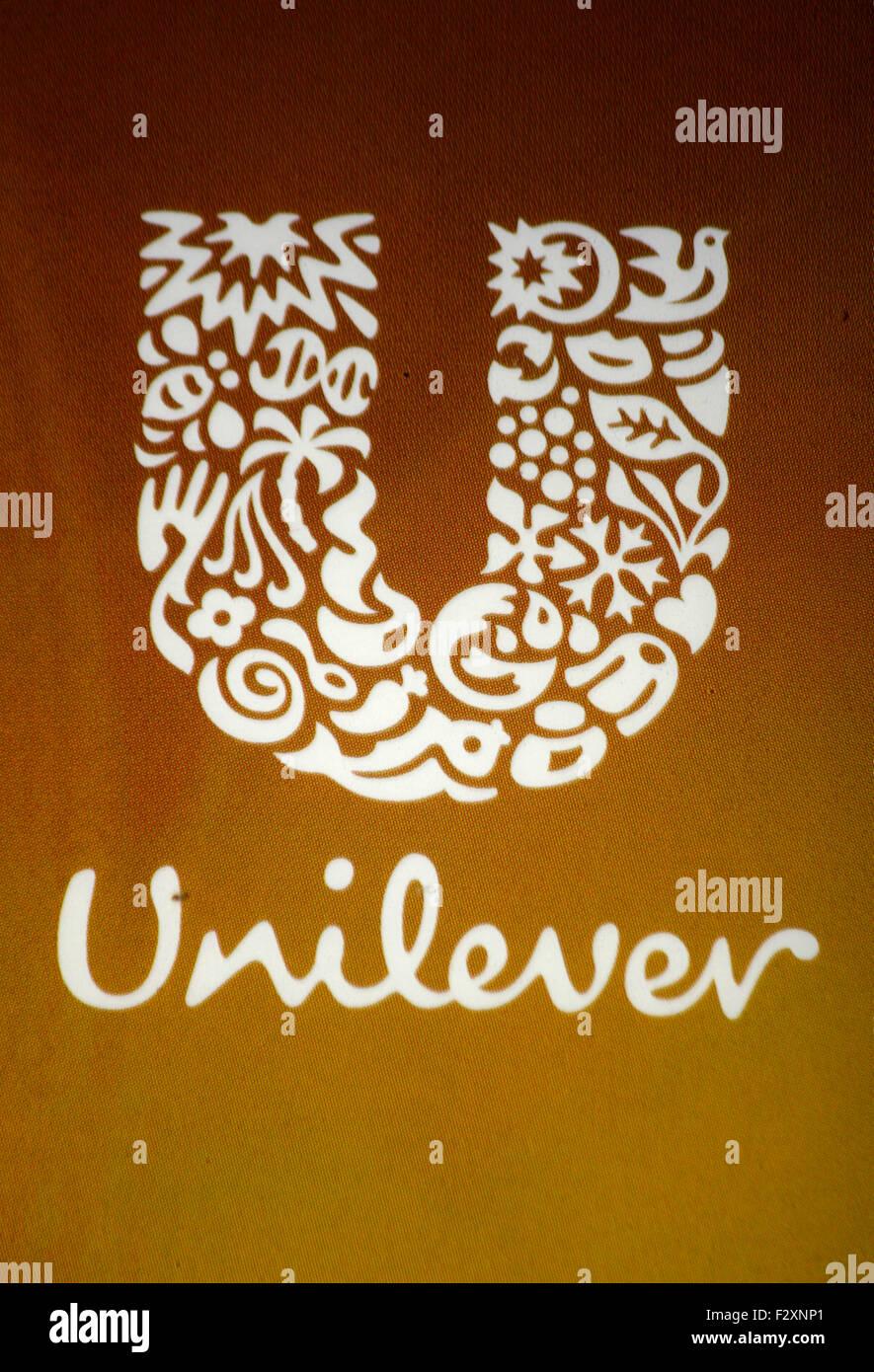 Markenname: 'Unilever', Berlin. - Stock Image