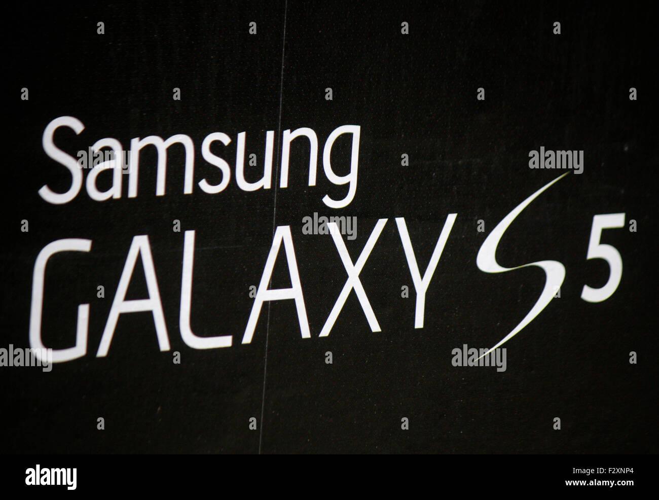 Markenname: 'Samsung Galaxy S5', Berlin. - Stock Image