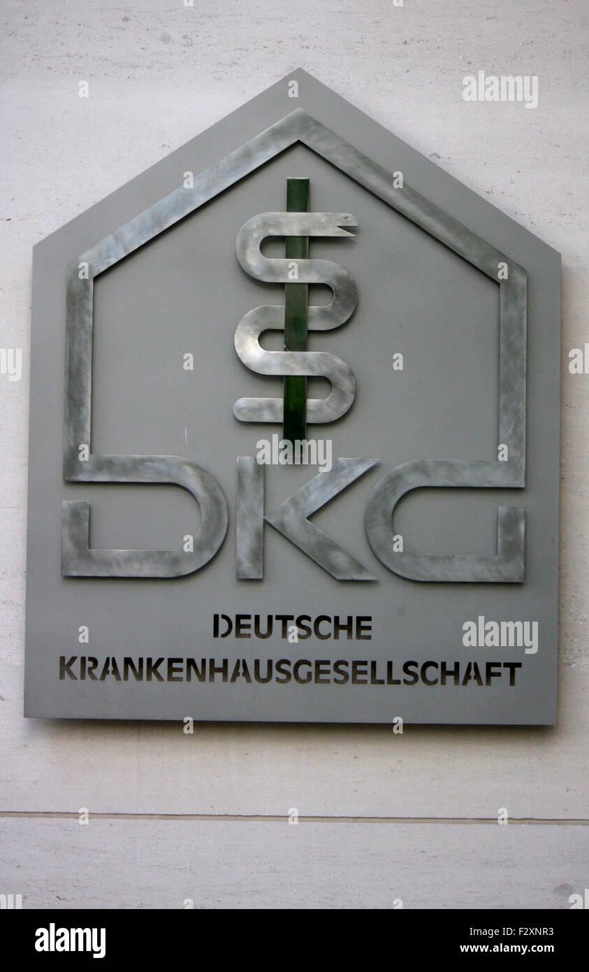 """Markenname: """"DKG Deutsche Krankenhaus Gesellschaft"""", Berlin. Stock Photo"""