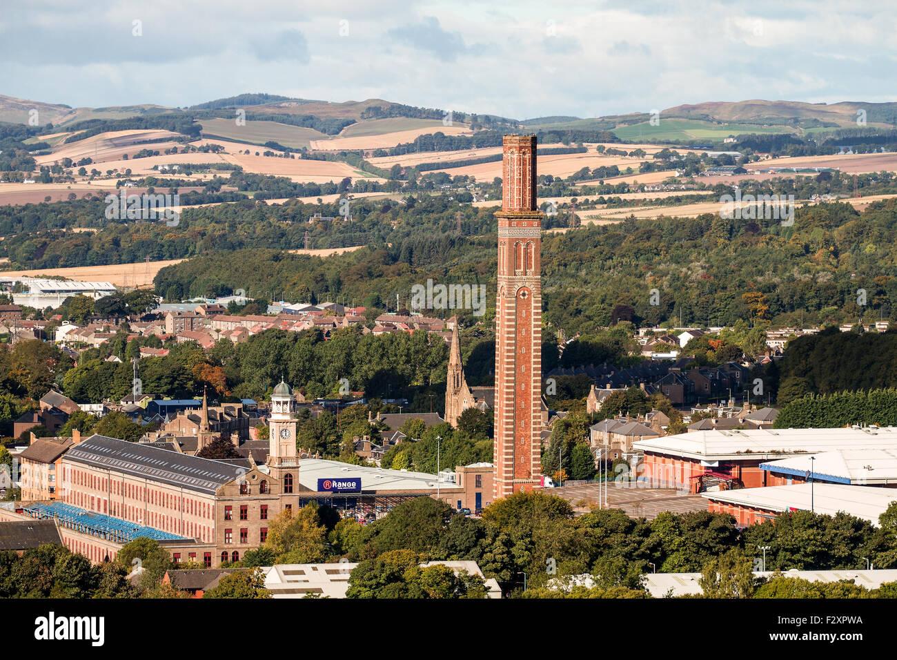 Dundee, Tayside, Scotland, UK, 25th September 2015. UK Weather: Cold and crisp autumn morning sunshine displaying Stock Photo