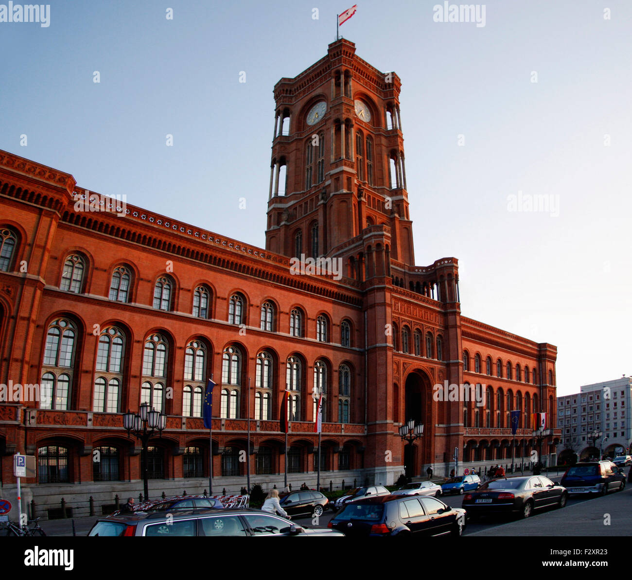 Panorama: Rotes Rathaus, Berlin-Mitte. - Stock Image