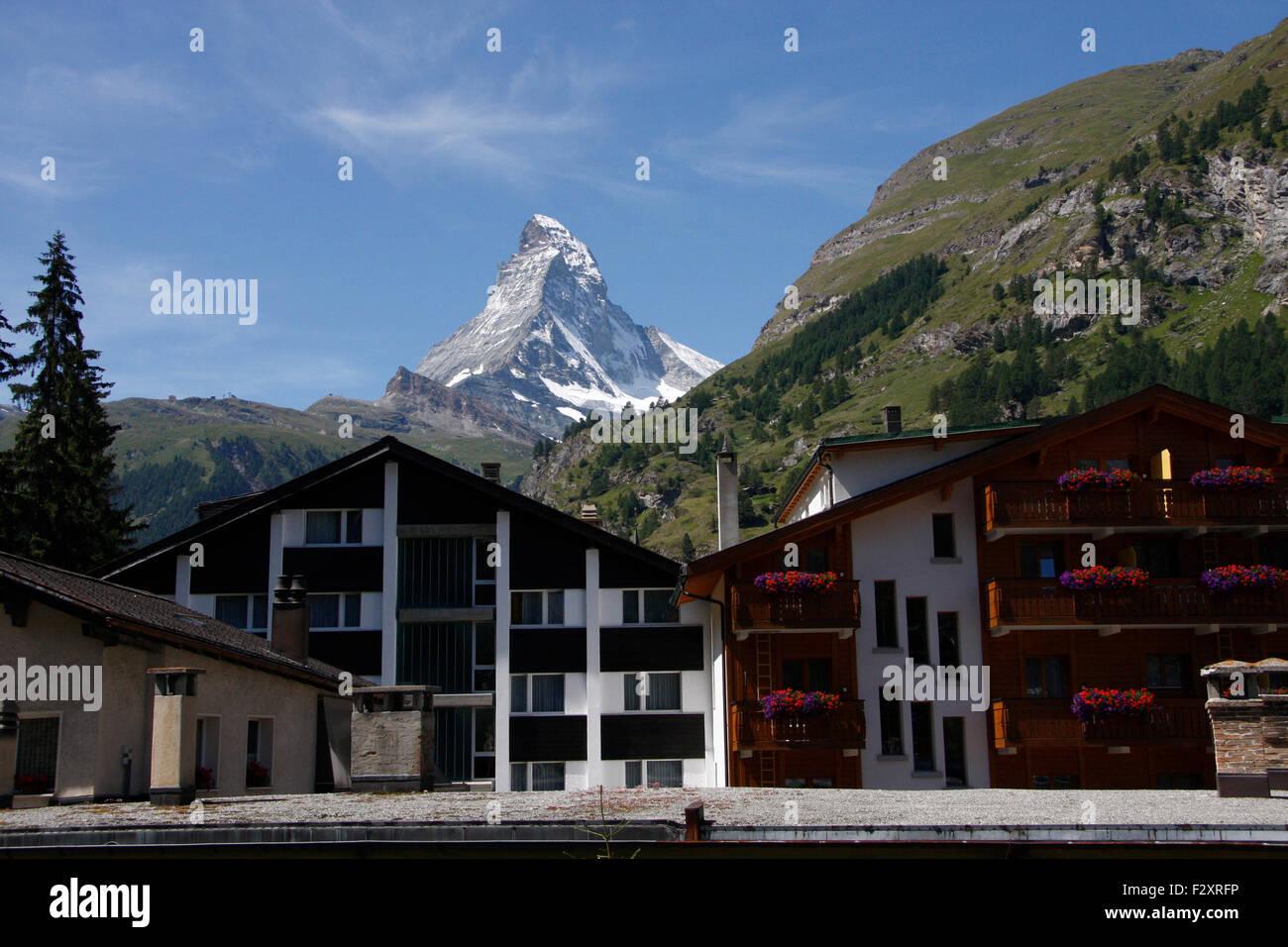 Zermatt, Matterhorn, Wallis, Schweiz/ Switzerland. - Stock Image