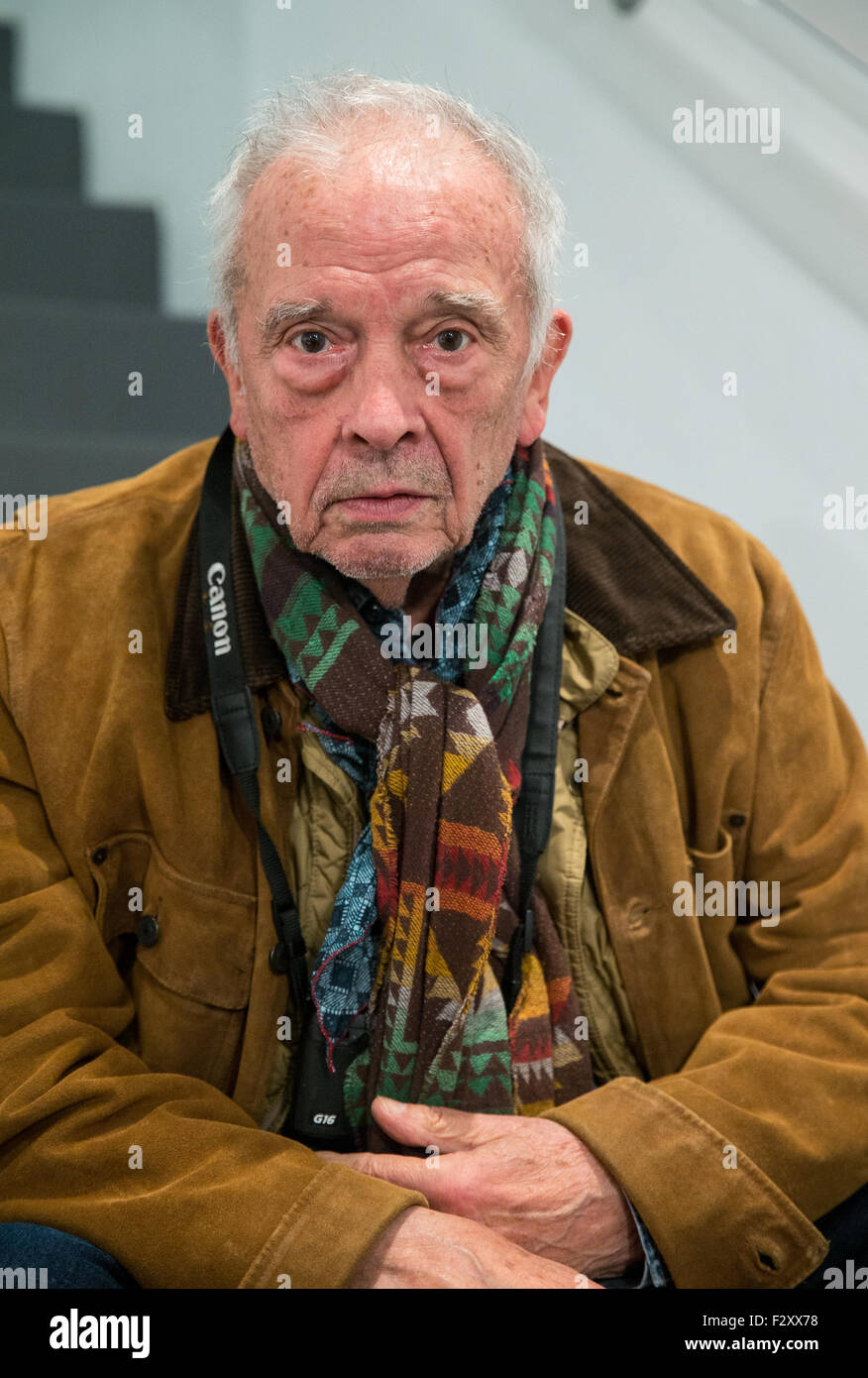 David  Bailey, CBE at an art gallery in Bond street - Stock Image