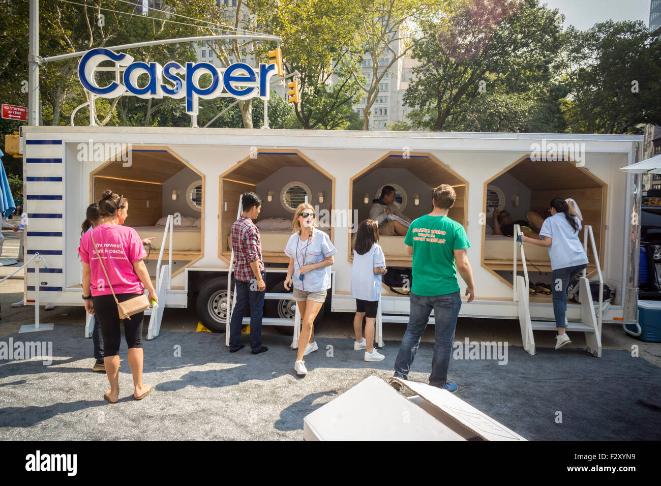 The Casper Nap Tour Promotional Trailer Equipped With