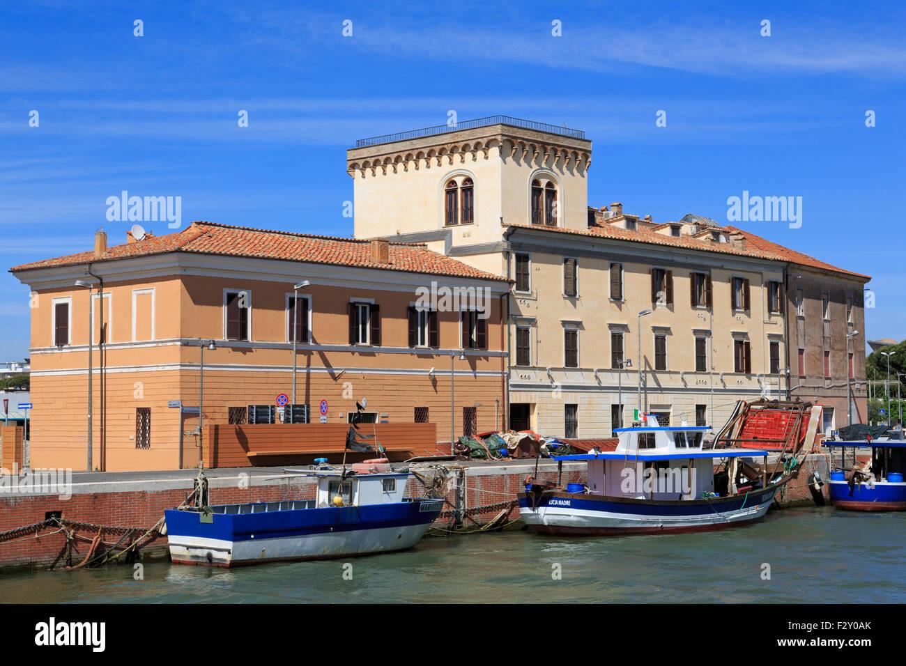 Port of Fiumicino, Rome, Italy, Europe - Stock Image