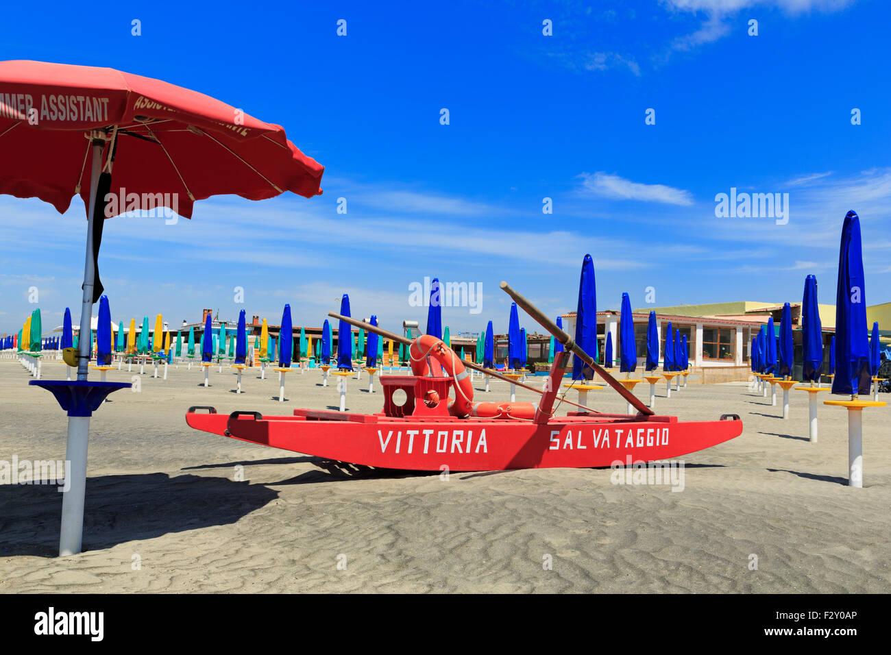 Mare Tirreno Beach, Port of Fiumicino, Rome, Italy, Europe - Stock Image