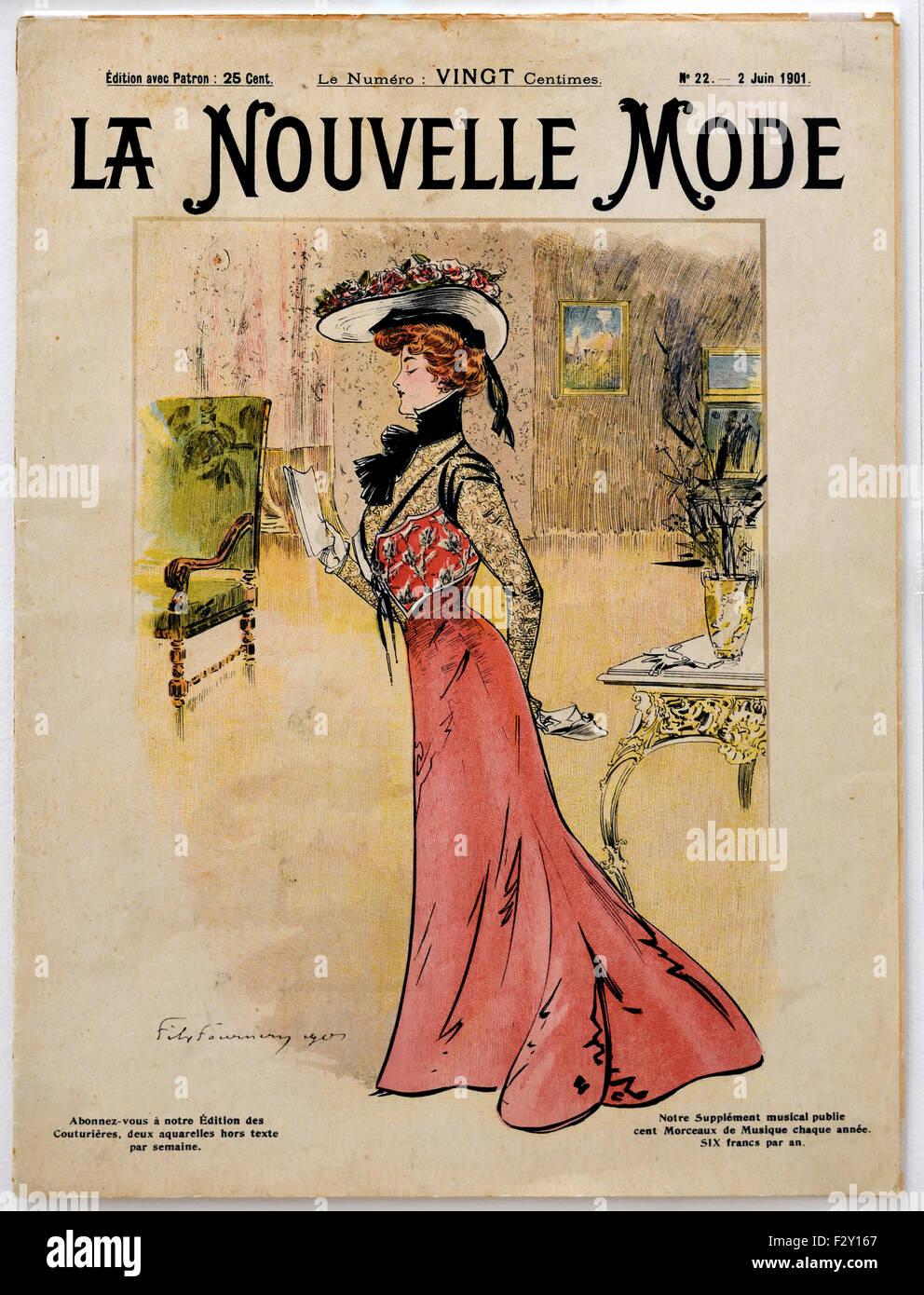 La Nouvelle Mode 1900  French Paris (fashion couture designer clothes art ) - Stock Image