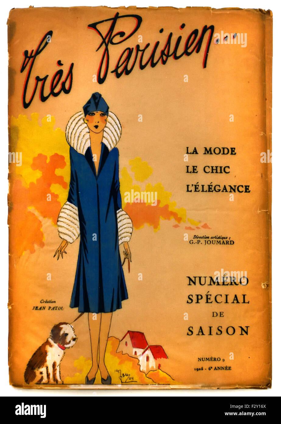 Tres Parisian 1925  French Paris fashion couture designer clothes art - Stock Image