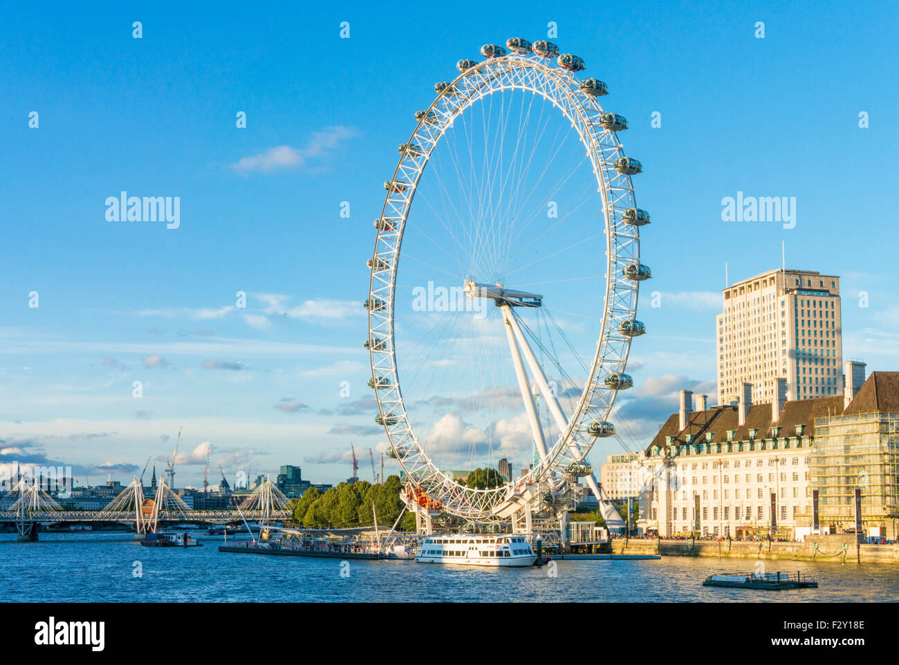 the london eye is a big ferris wheel carousel on the south bank of