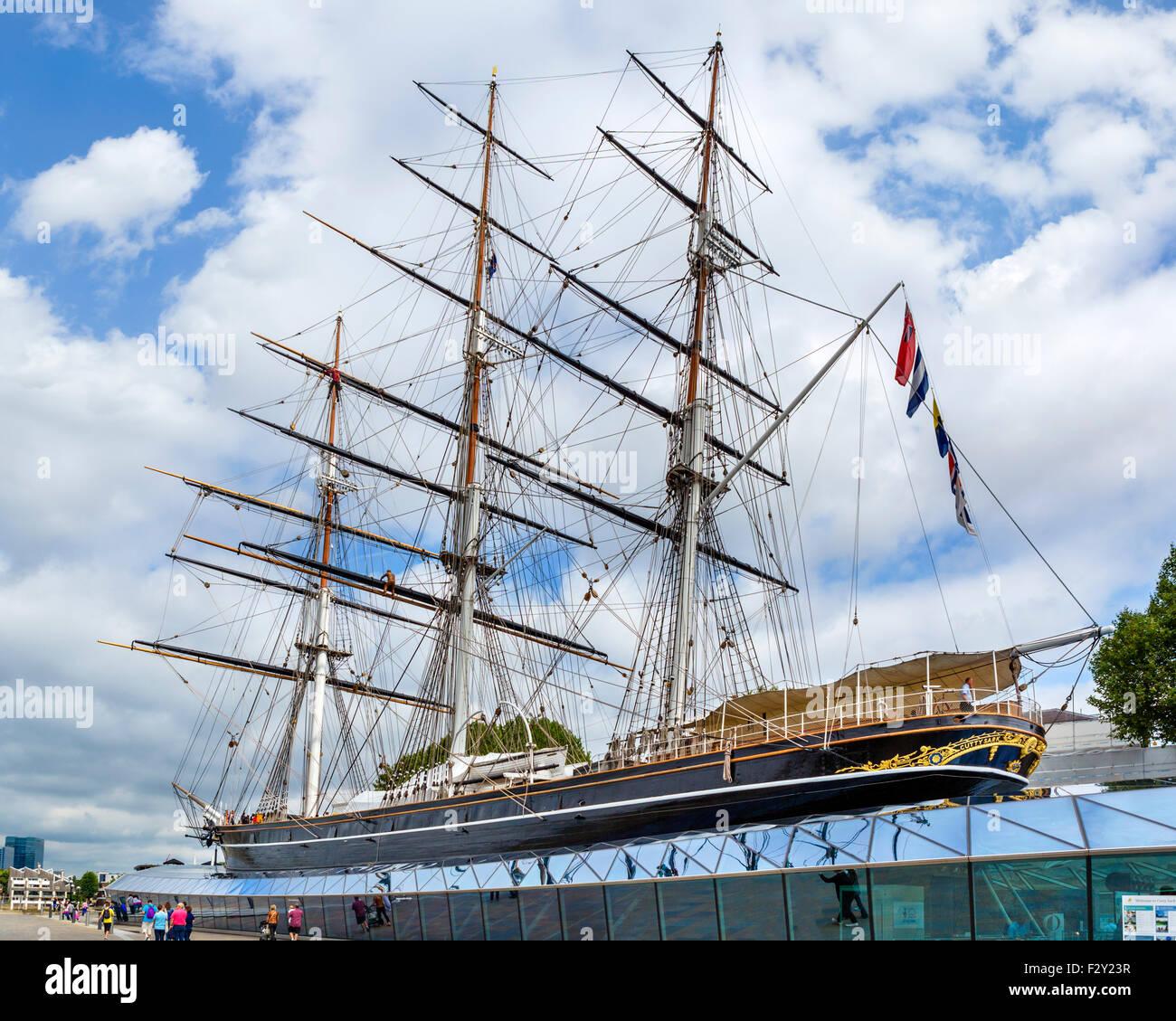 The Cutty Sark, Greenwich, London, England, UK - Stock Image