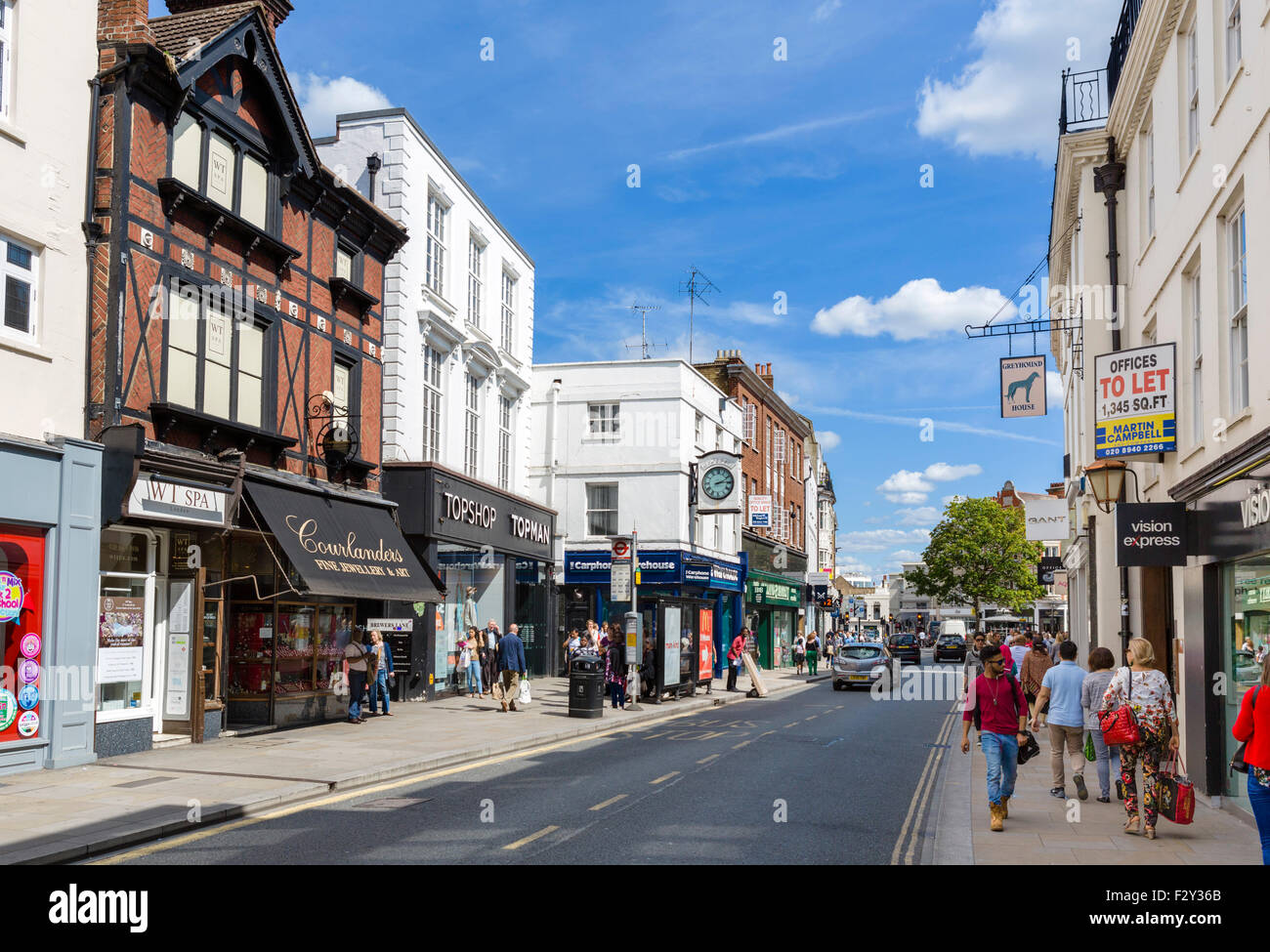 George Street in Richmond upon Thames, London, England, UK - Stock Image