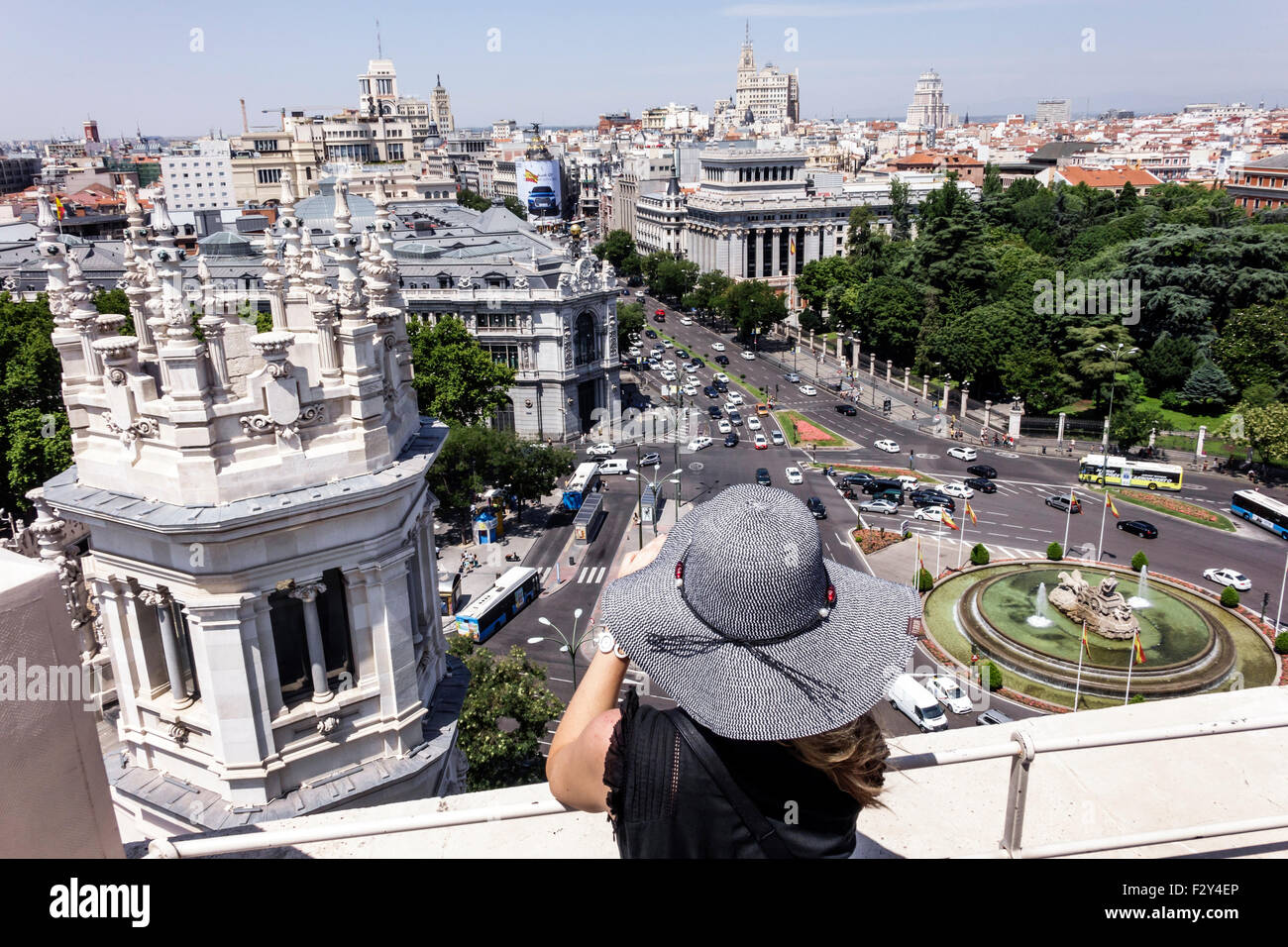 Terraza Mirador Del Palacio De Cibeles Stock Photos
