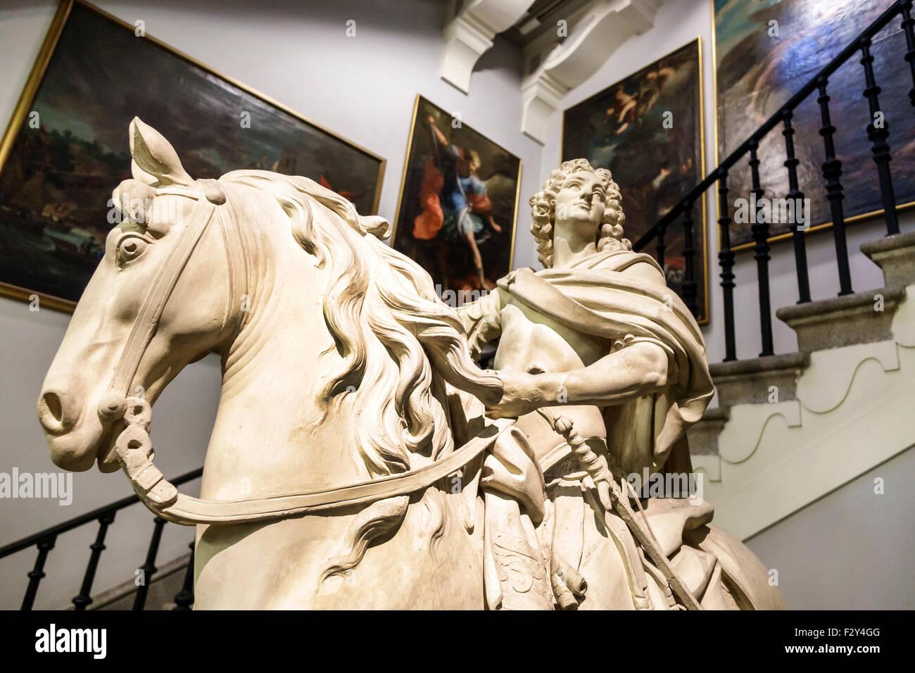 Madrid Spain Europe Spanish Centro Calle de Alcala Real Academia de Bellas Artes de San Fernando Royal Academy of - Stock Image