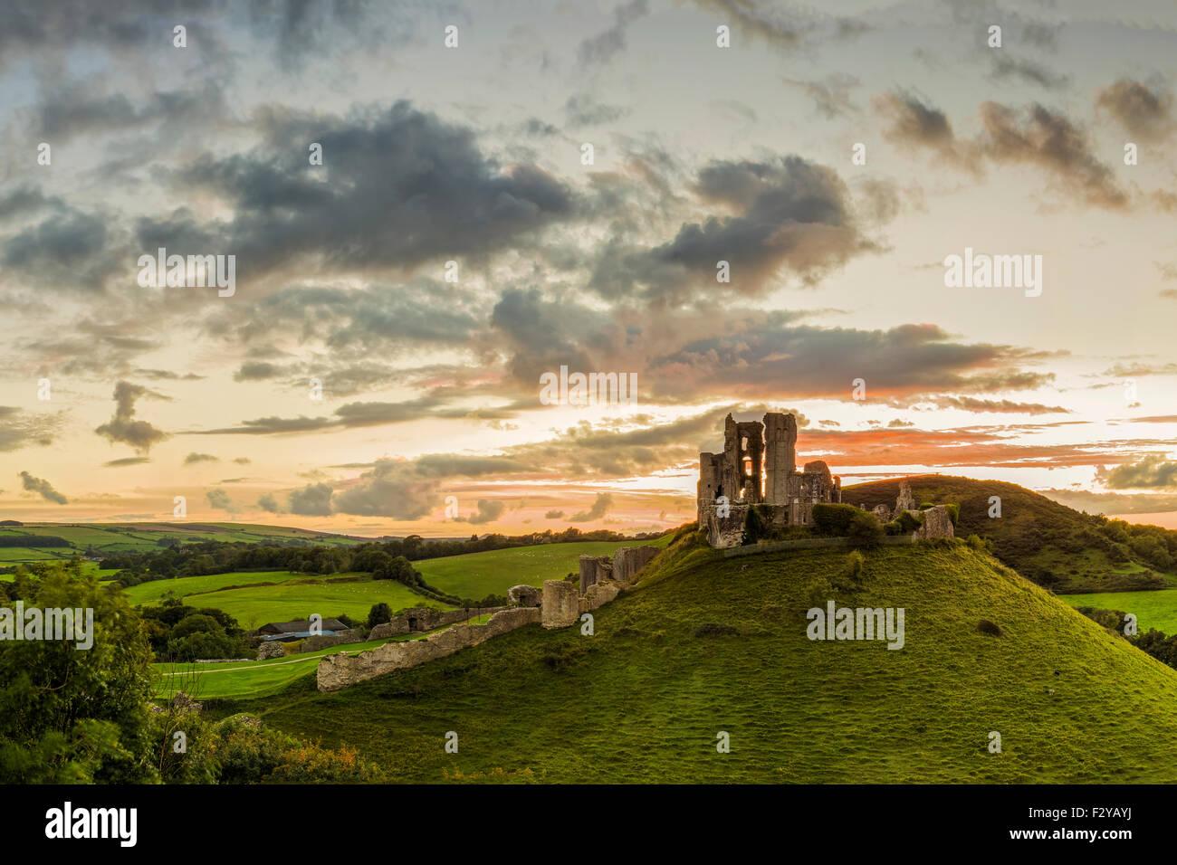 Corfe Castle, Dorset - Stock Image
