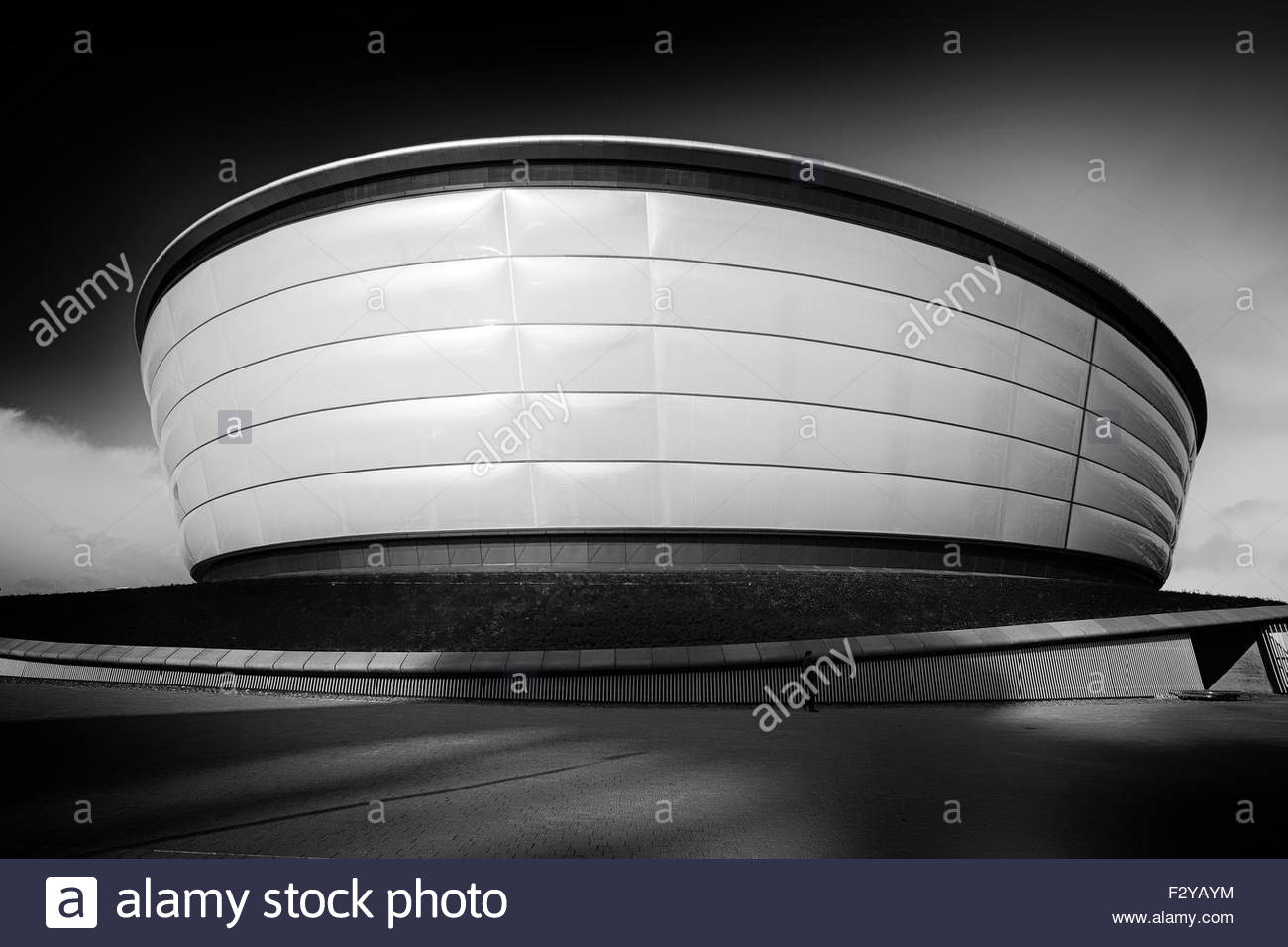 The Hydro Arena in Glasgow photographed in black and white. - Stock Image