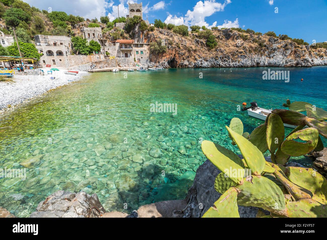 Peloponnese Harbour - Stock Image