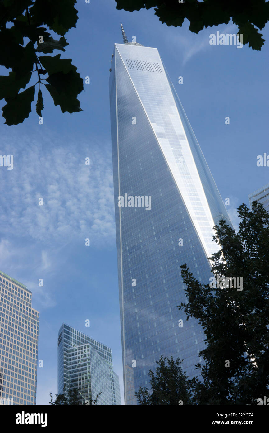 1 World Trade Center in Lower Manhattan, New York City, was designed by David Childs of Skidmore, Owings & Merrill. - Stock Image