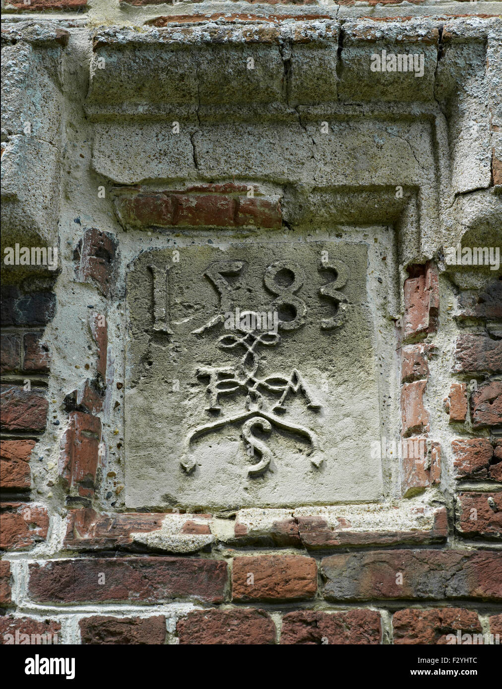 Sturry, Milner Court, Kent. Datestone 1583 - Stock Image
