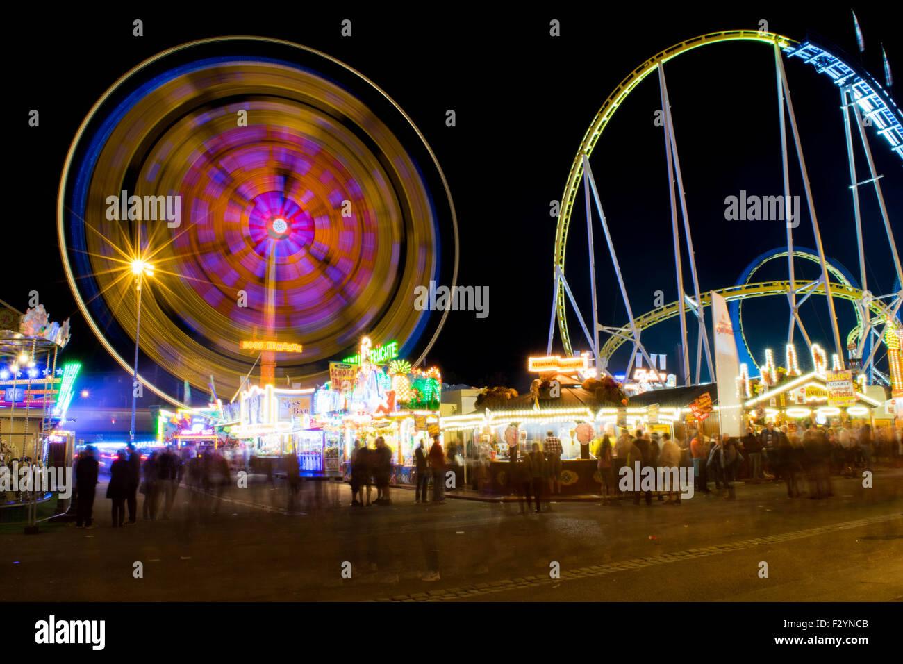 Spinning Wheels at the Stuttgart Festival (Wasen) - Stock Image