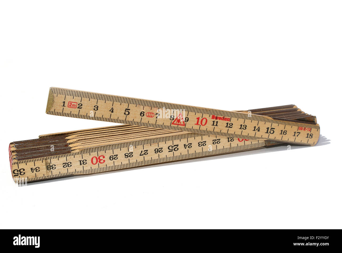 Carpenters meter - Stock Image