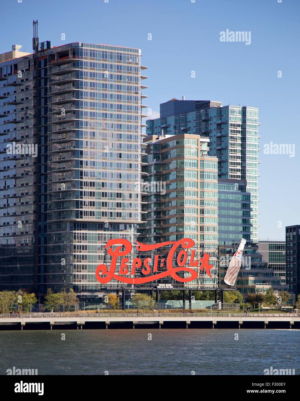 Historic landmark Pepsi Cola sign before recently ...