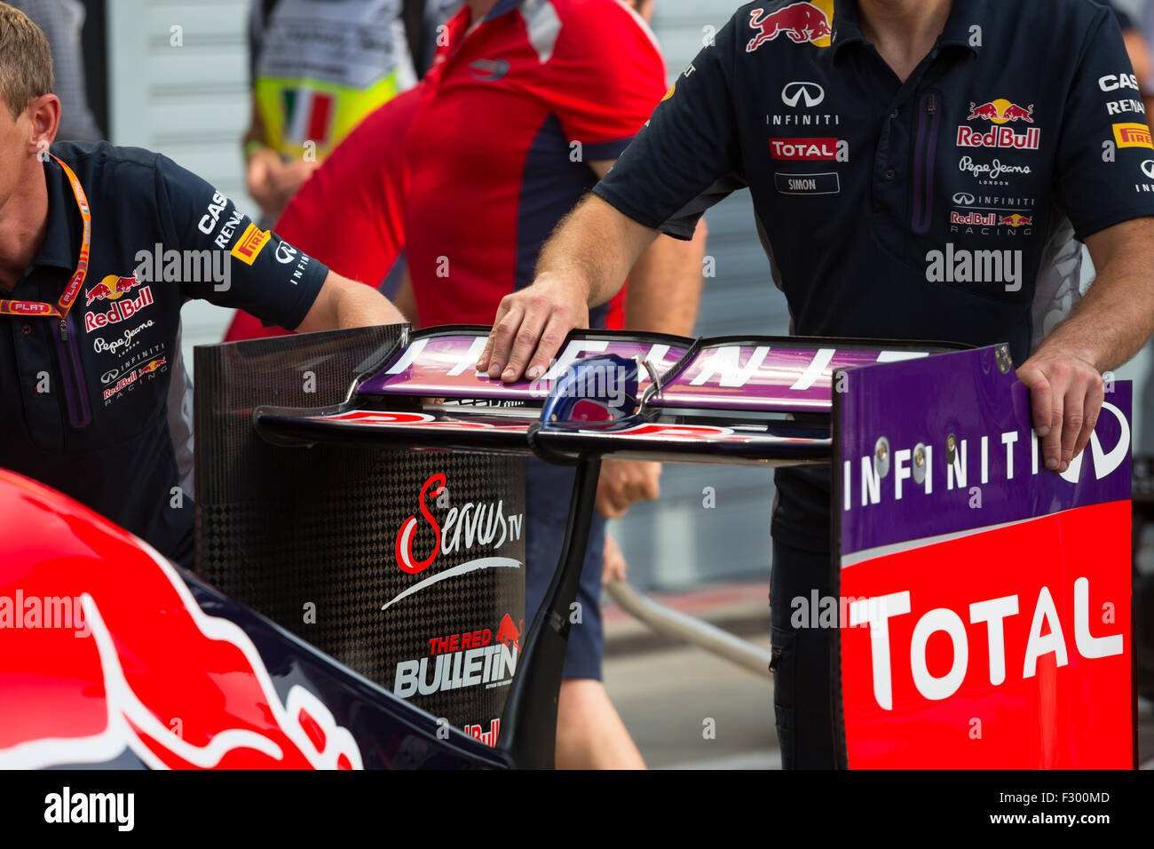 Red Bull RB11 with the Monza-spec wing for the 2015 Italian Grand Prix - Stock Image