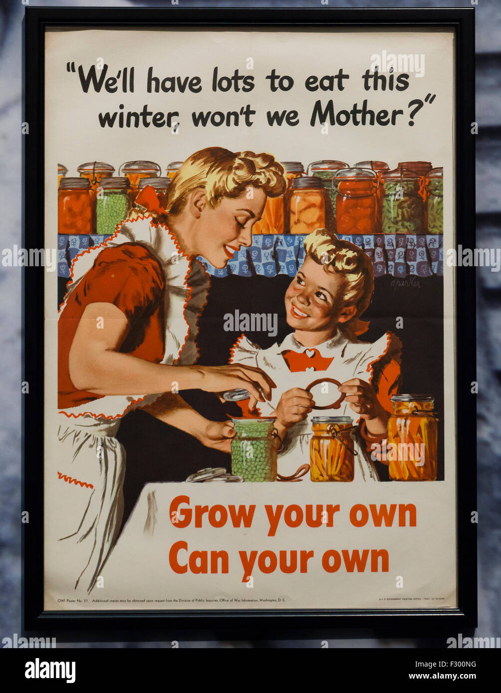Vintage poster from the US Office of War Information, circa 1942 - USA - Stock Image