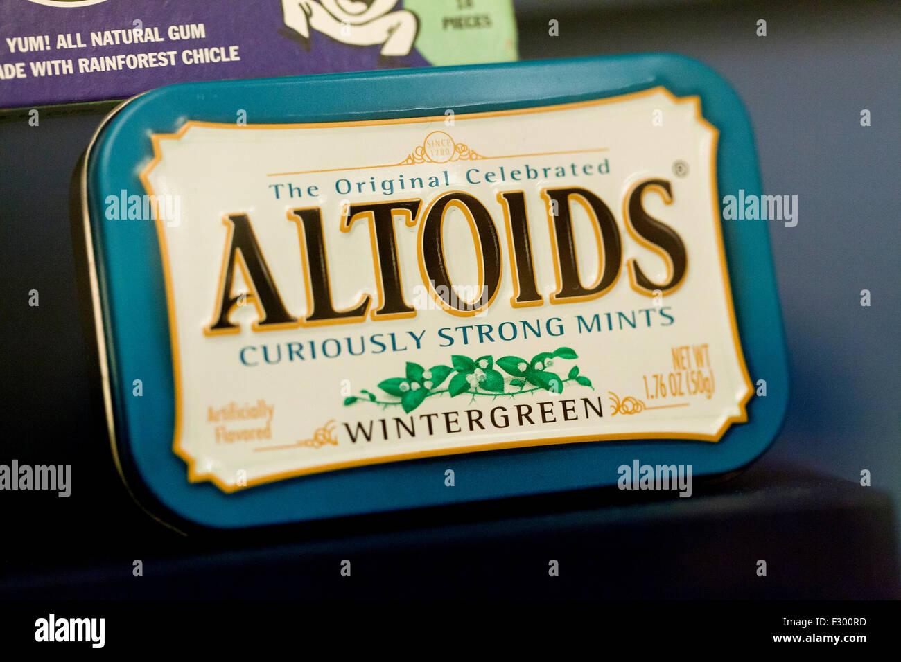 Altoids Wintergreen breath mints - USA - Stock Image