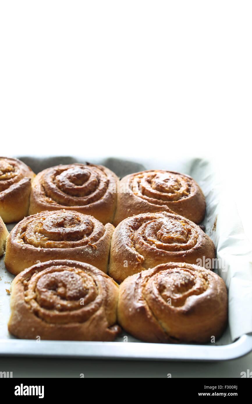 Kanelbullar, swedish cinnamon rolls - Stock Image