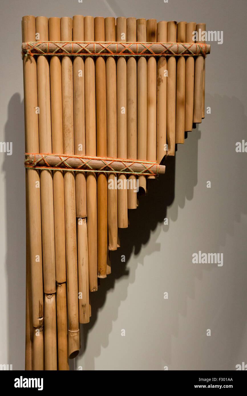 Peruvian pan flute - Stock Image