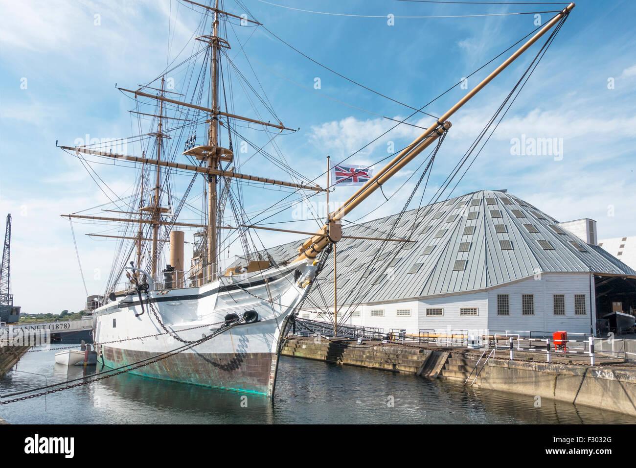 HMS Gannet Chatham Historic Dockyard Chatham Kent UK - Stock Image