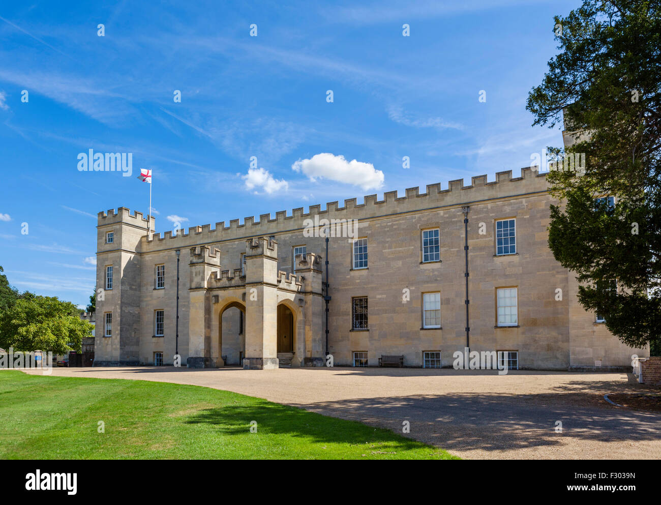 The front of Syon House, Syon Park, West London, England, UK - Stock Image
