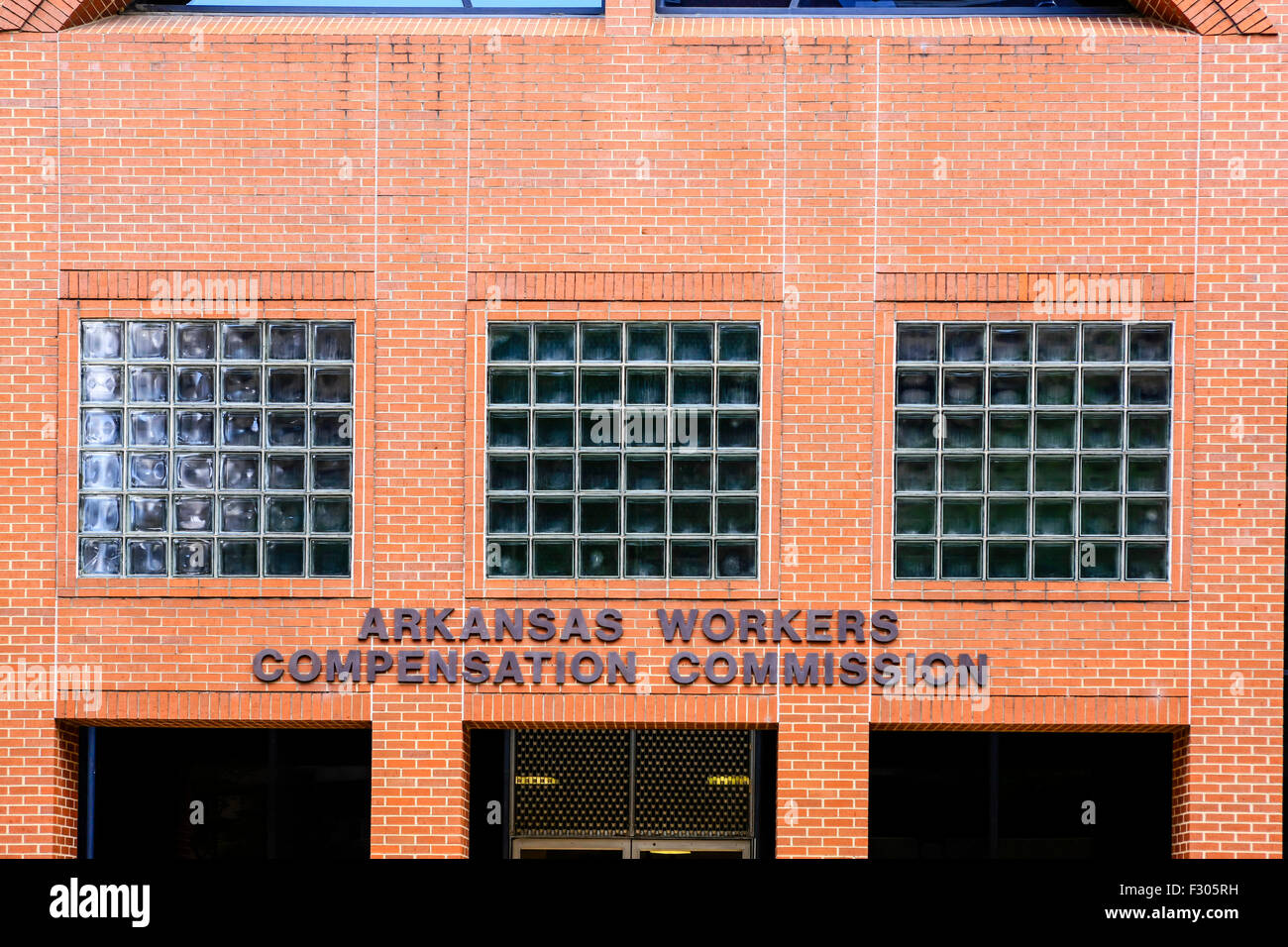 The redbrick Arkansas Workers Compensation Commission building in downtown Little Rock - Stock Image