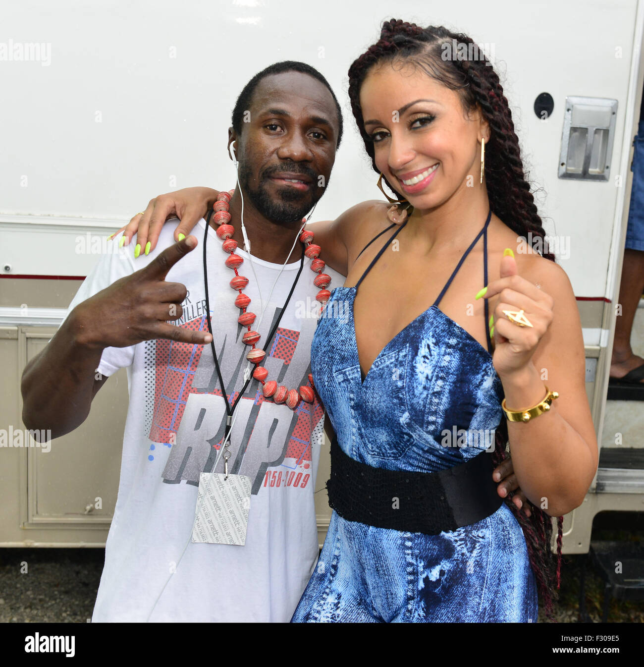 Overtown Music and Arts Festival - Backstage  Featuring: Claudy Louis, R&B singer Mya, Mýa Harrison Where: Miami, Stock Photo
