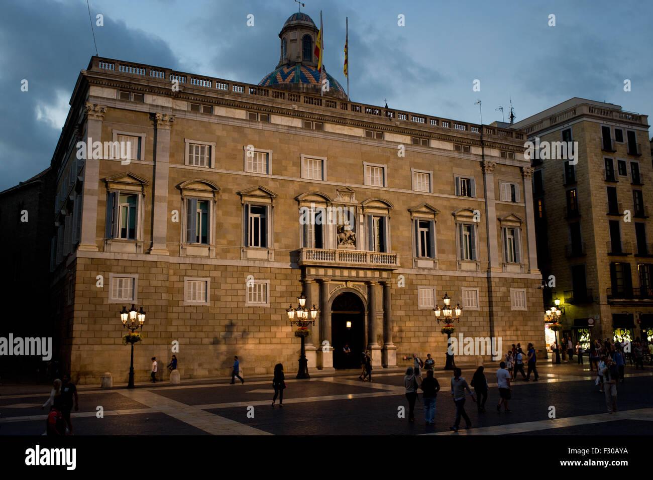Barcelona Catalonia Spain 26th Sep 2015 The Palau De La Stock