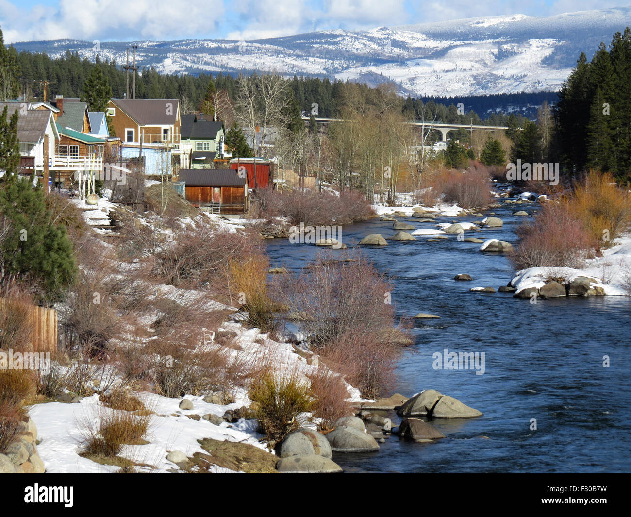 View of the Truckee River - Stock Image
