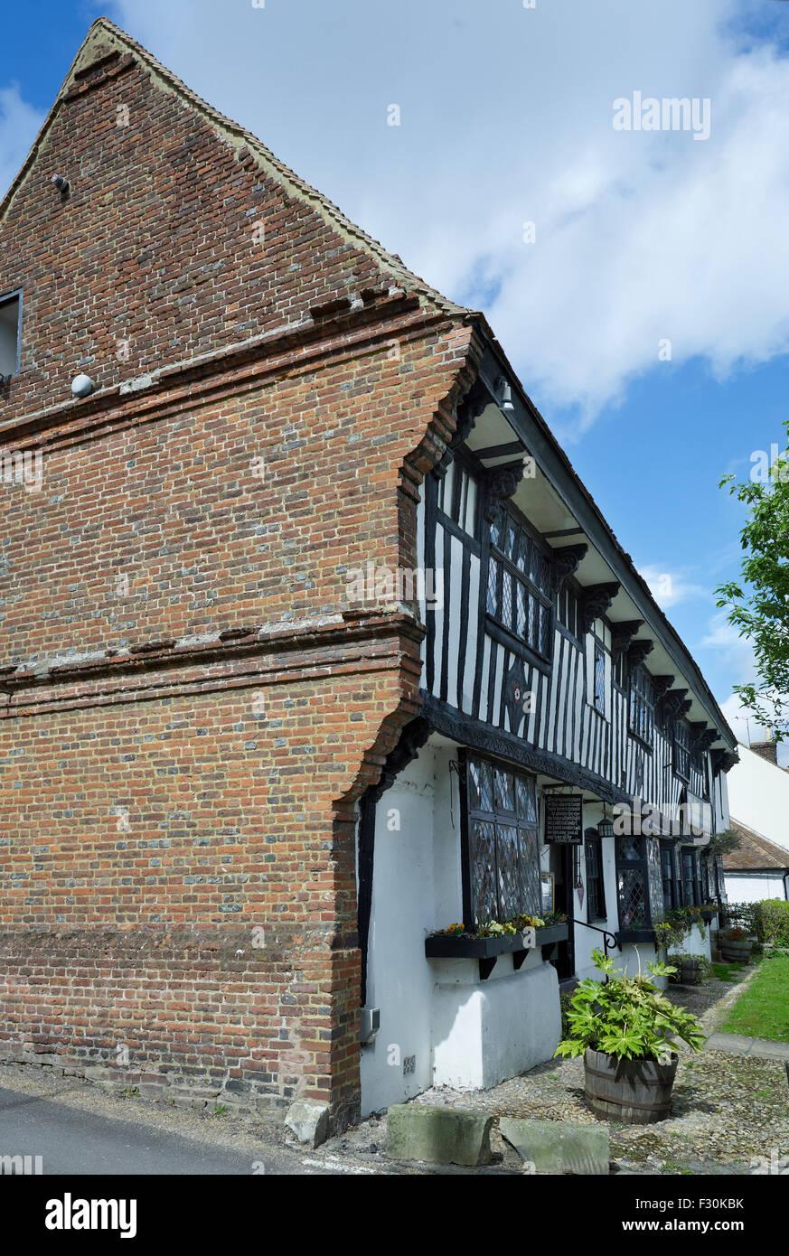 Elham, Kent. The Abbot's Fireside - Stock Image