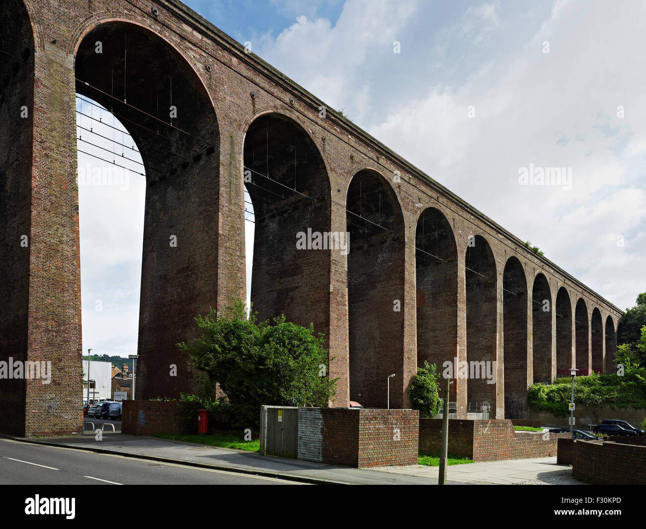 Foord Railway Viaduct, Folkestone, Kent William Cubitt 1842-43. - Stock Image