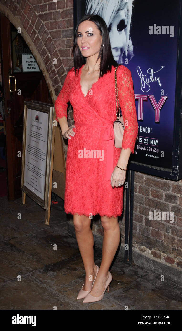 London, UK, 14th July 2015: Lizzie Stoppard attends Dusty the Musical First Night gala at the Charing Cross Theatre, Stock Photo