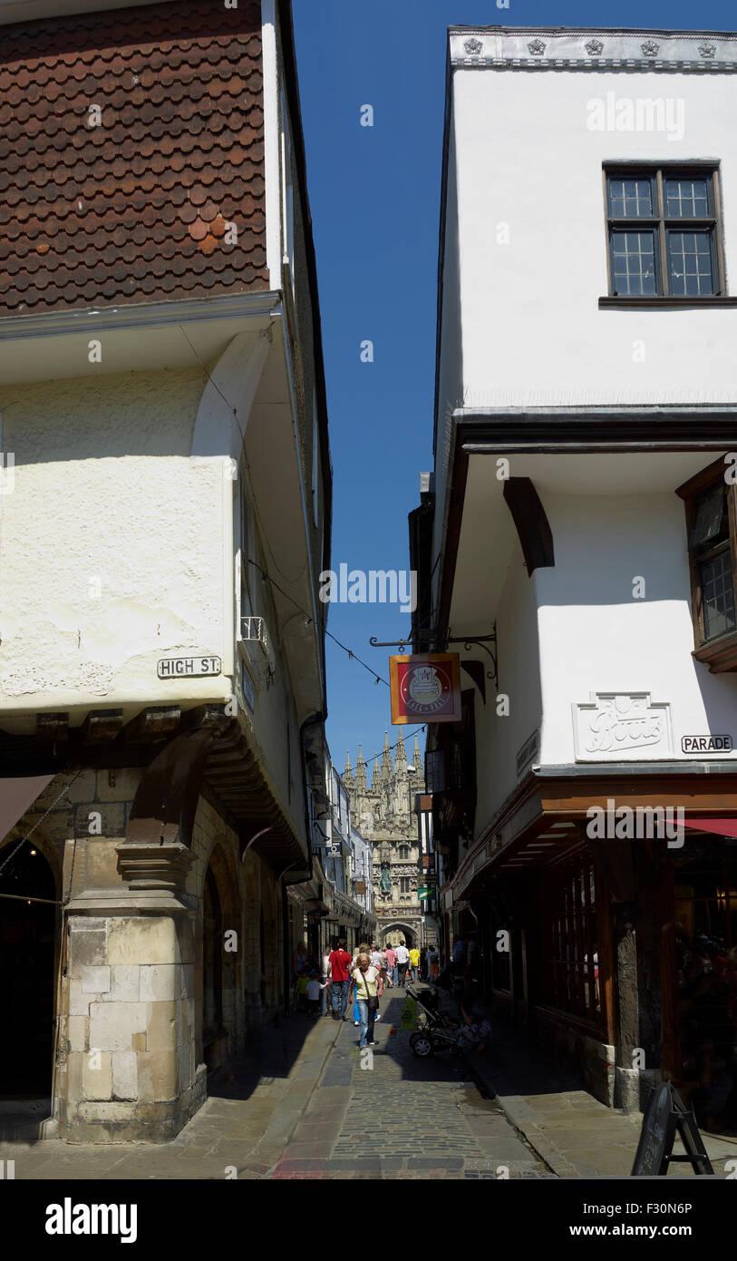 Mercery Lane, Canterbury, Kent - Stock Image