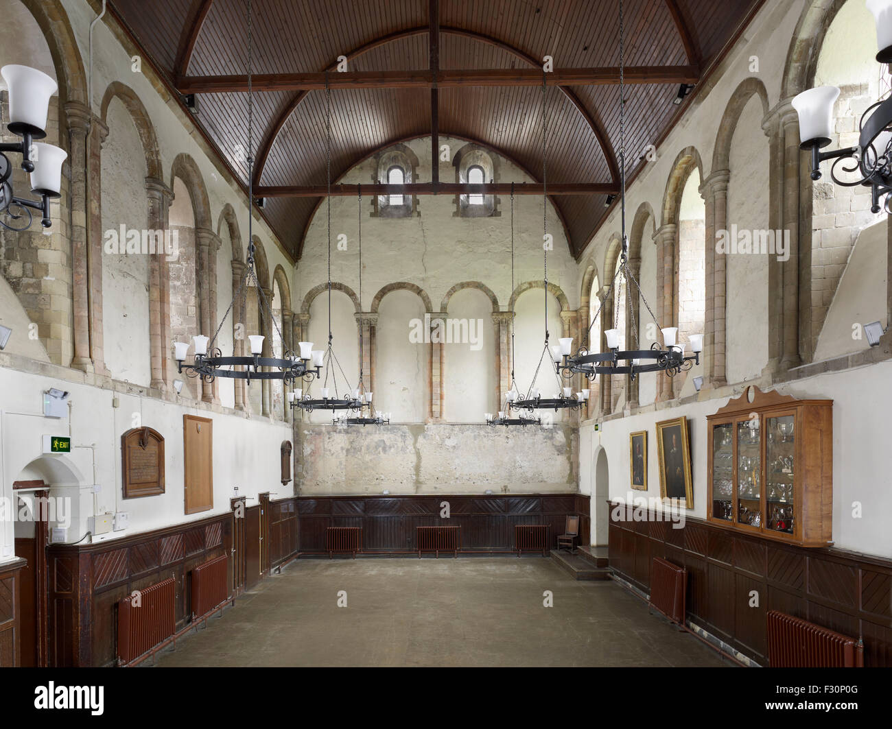 Dover College, Kent. St Martin's Priory Refectory - Stock Image