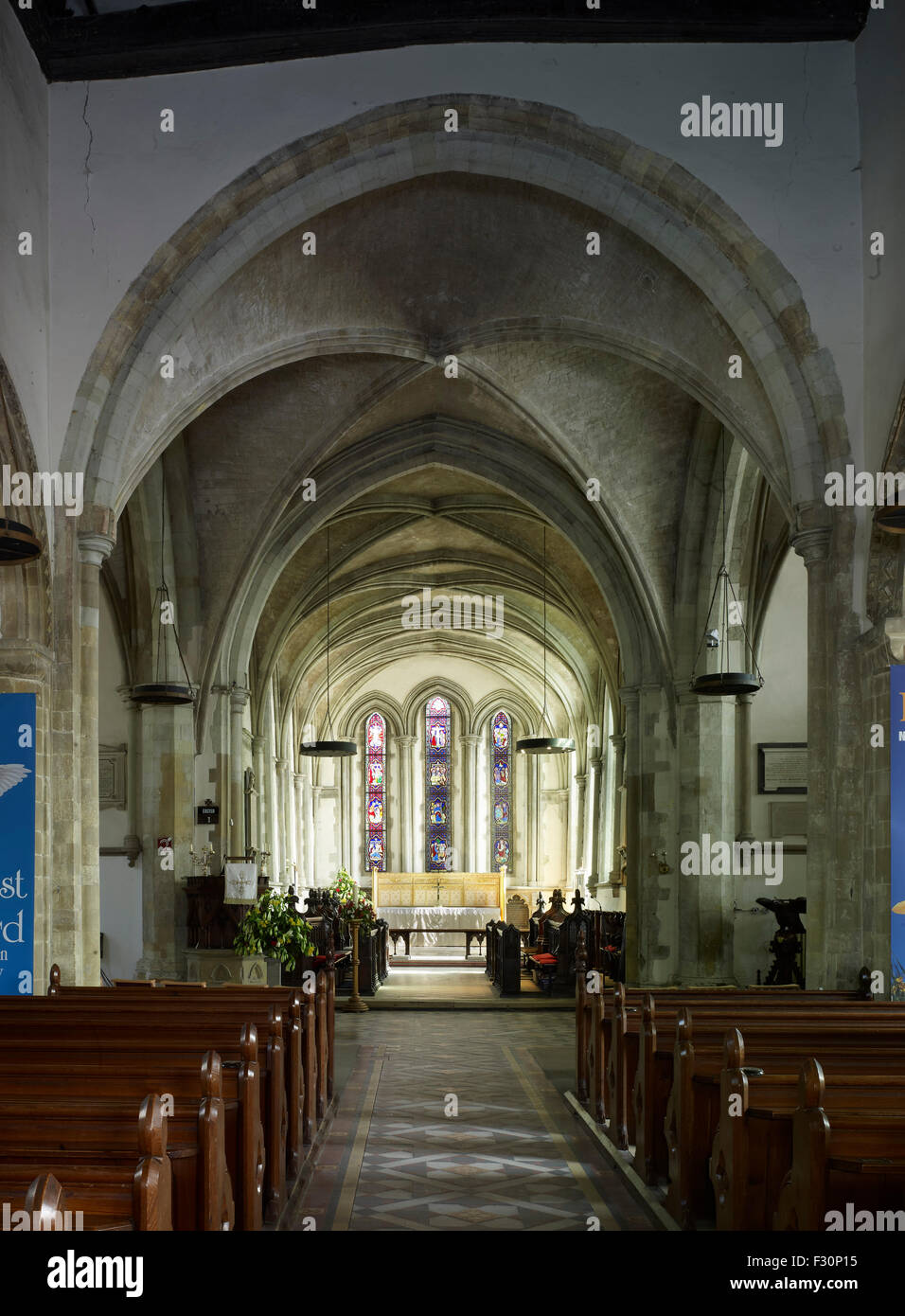 Minster in Thanet, St Mary's Church,  Kent. Chancel c. 1230 - Stock Image
