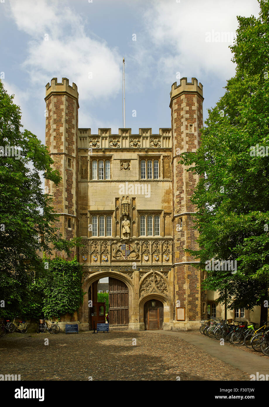 Cambridge University, Trinity College Great Gate - Stock Image