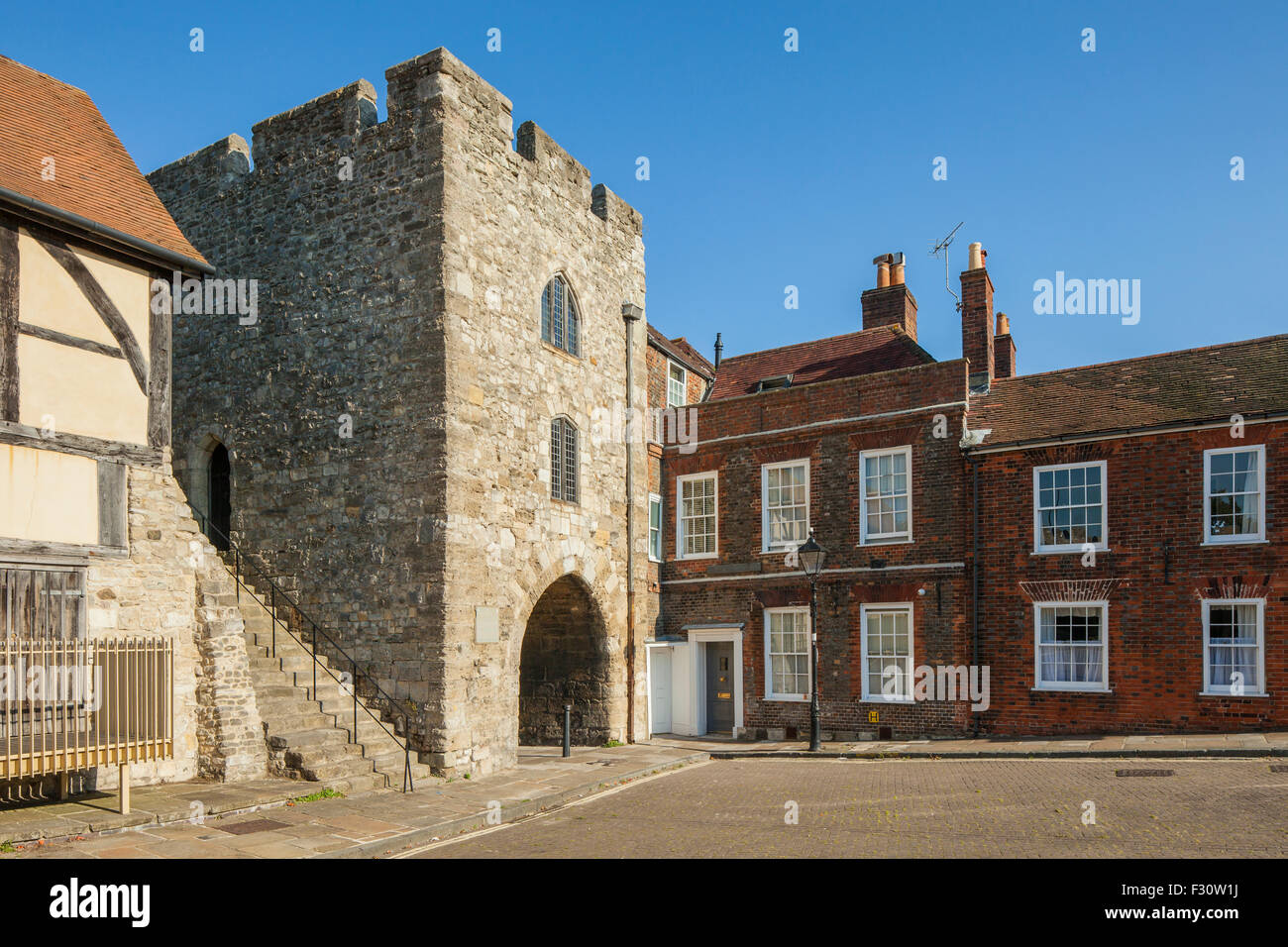 Morning at West Gate in Southampton, Hampshire, England. - Stock Image