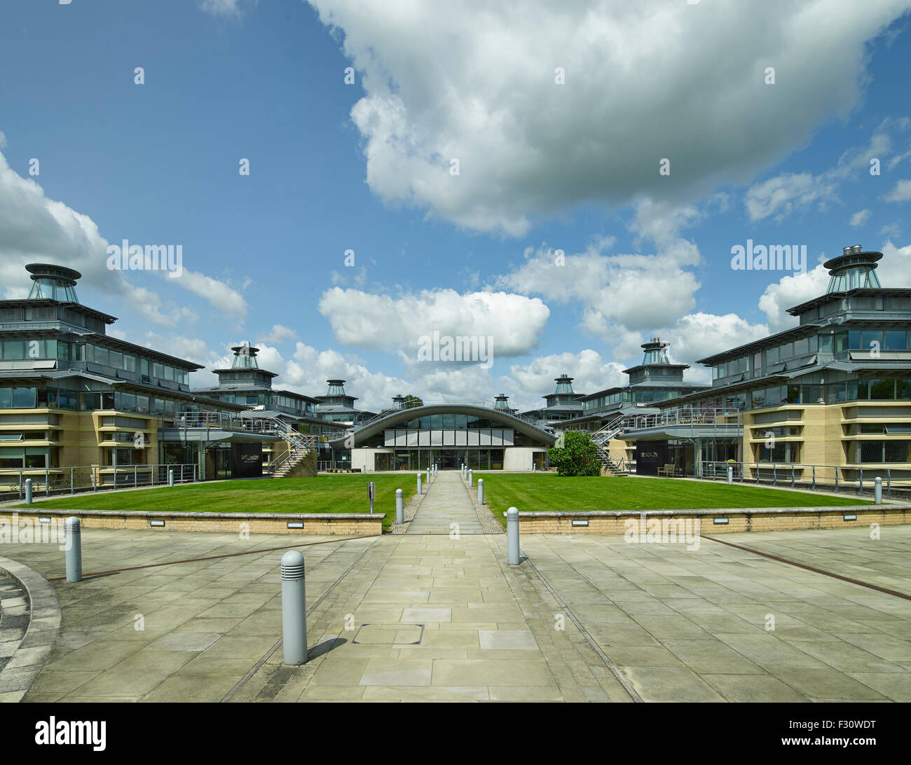 Cambridge University Centre for Mathematical Studies by Edward Cullinan Architects - Stock Image