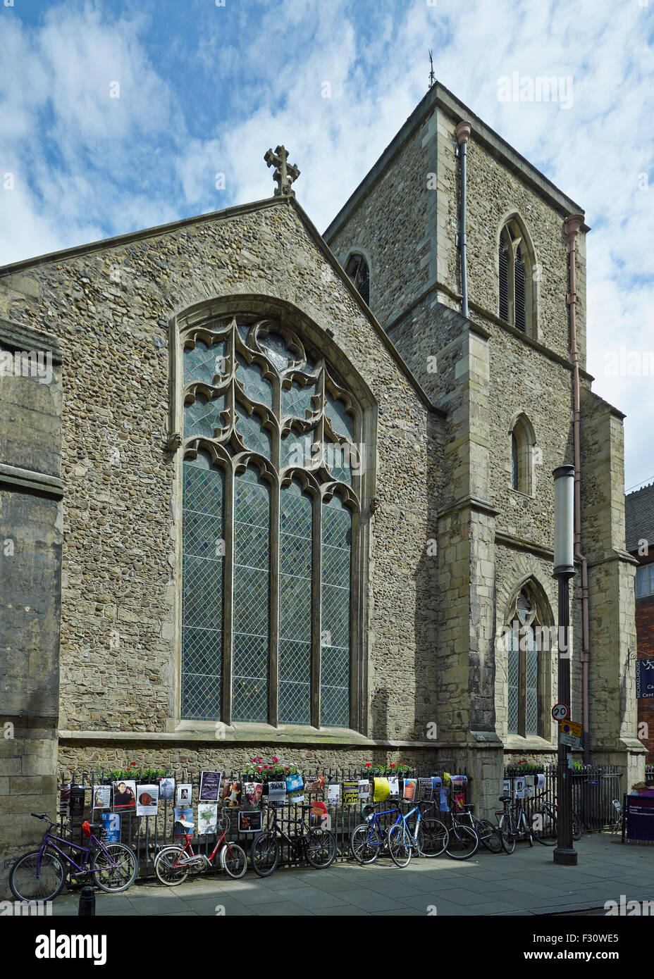 Cambridge, Church of St Michael, west end and tower - Stock Image